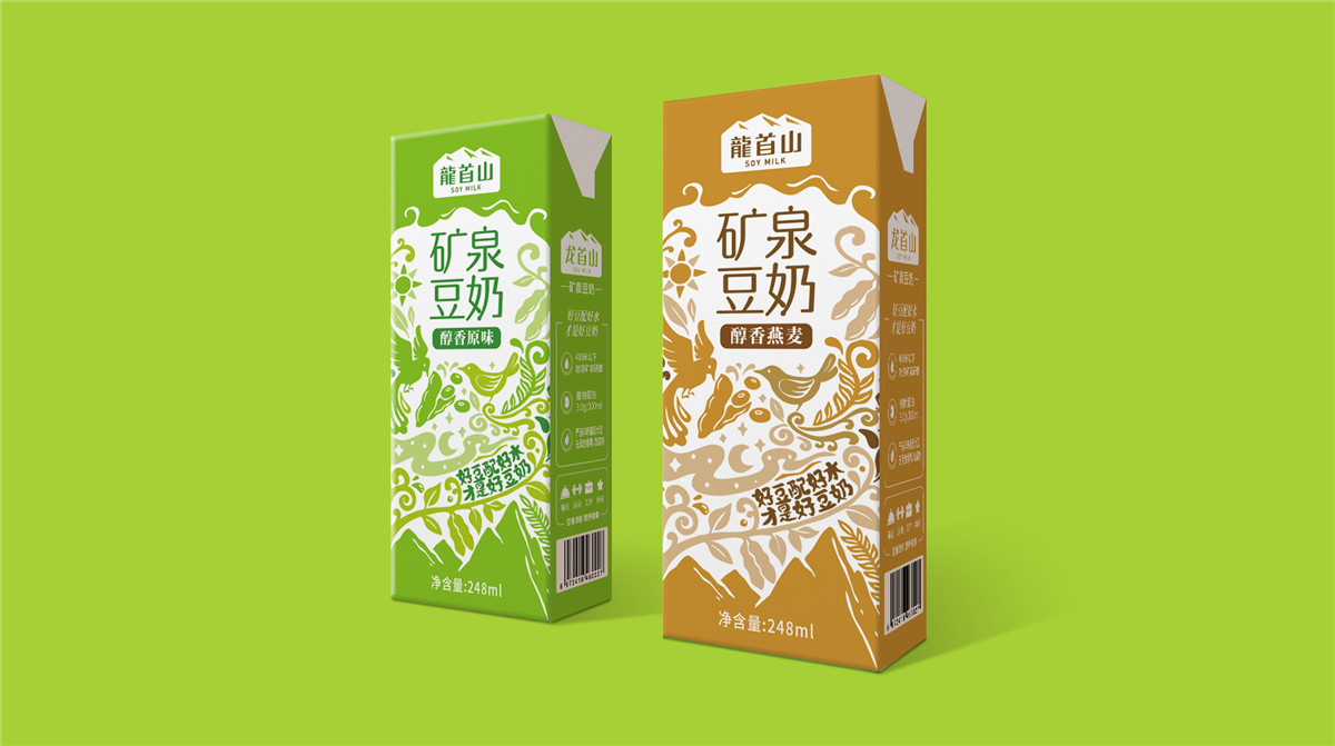 豆奶利乐砖包装设计