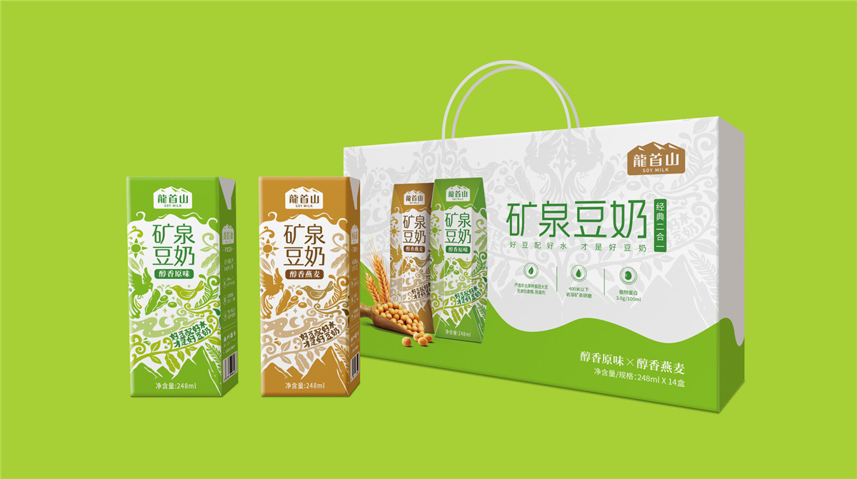 豆奶礼盒包装设计