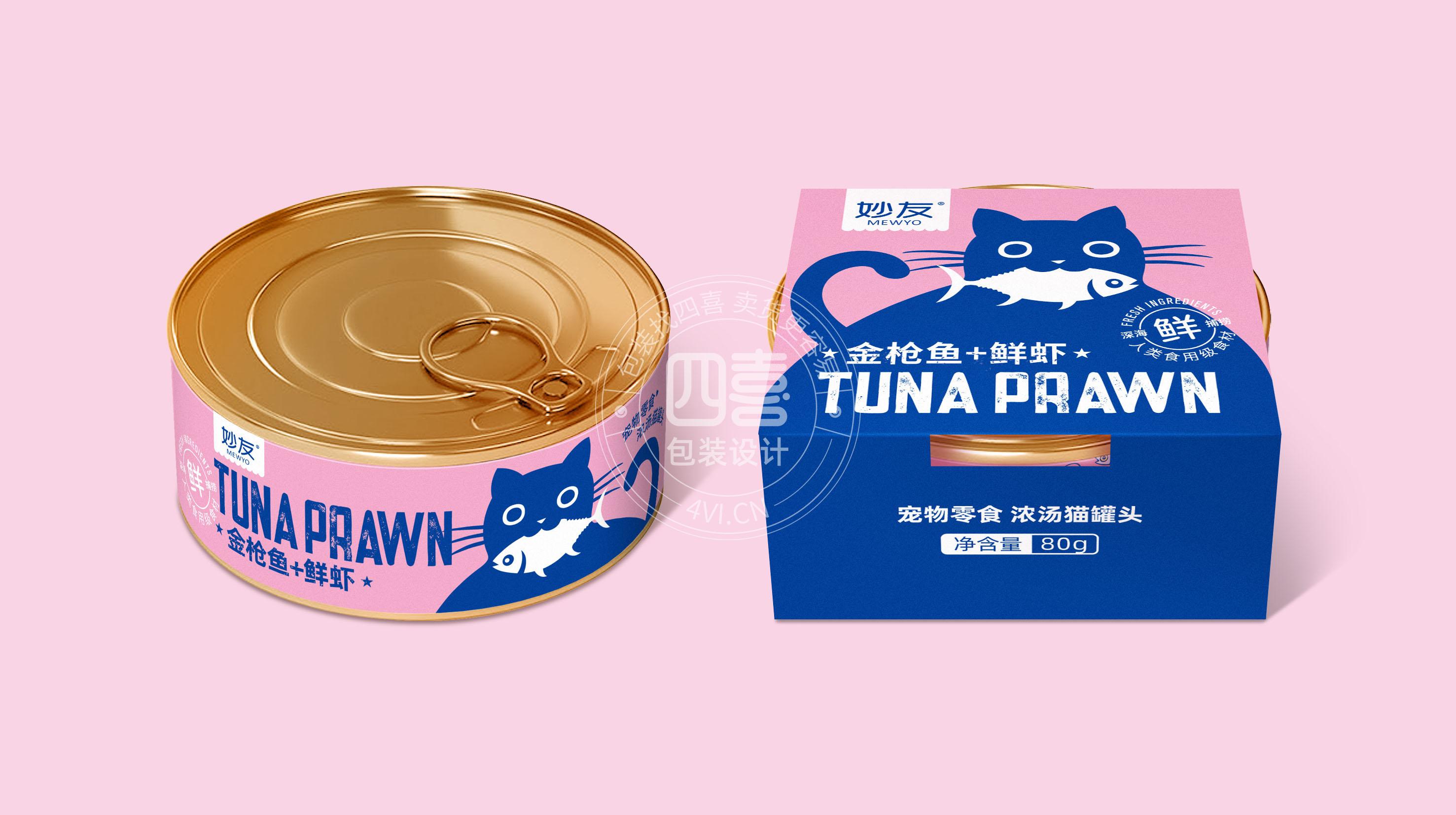 猫罐头包装设计图片
