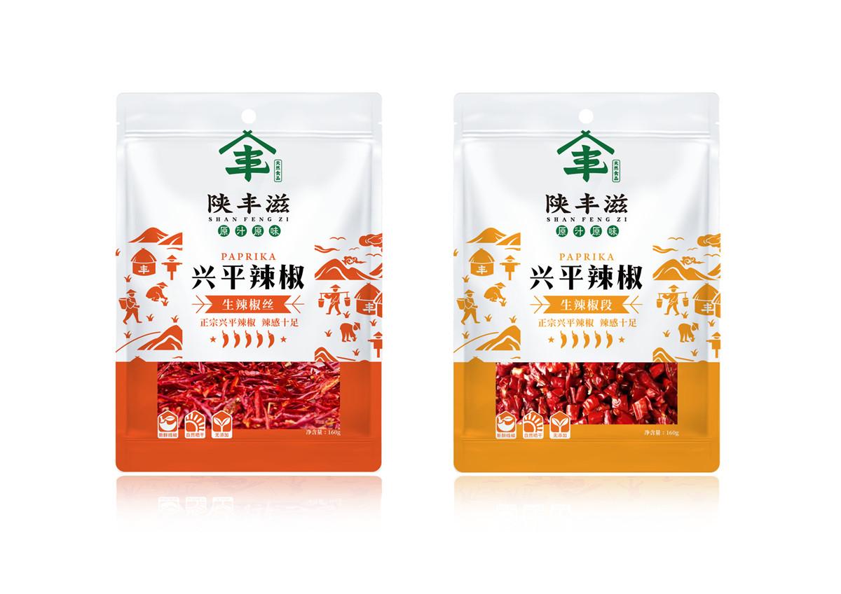 陕丰滋辣椒包装设计(图2)