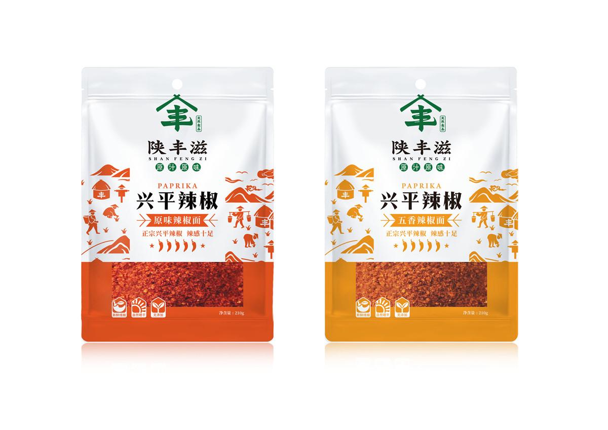 陕丰滋辣椒包装设计(图1)